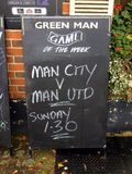 Manchester United kontra Manchester City royaltyfri fotografi