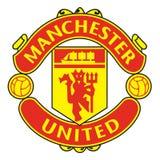 Manchester United-Logo-Fußballverein Stockfotos