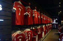 Manchester United Official Shop Stock Photos