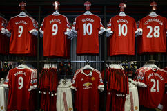 Manchester United Official Shop Royalty Free Stock Photos