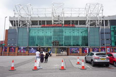 The Manchester United Old Trafford Stadium Stock Images