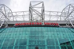 The Manchester United Old Trafford Stadium Royalty Free Stock Images