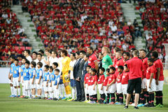 Manchester United and Singha All Star Royalty Free Stock Image