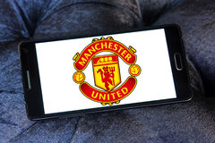 Manchester united soccer club logo Royalty Free Stock Photography
