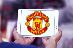 Manchester united soccer club logo Stock Photos