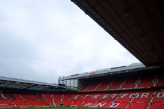 Manchester United Stadium. Chairs on stadium, very good for sport events or brief of arena event or audience Stock Image