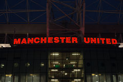 Manchester United Stadium. At Night Royalty Free Stock Photography