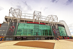 Manchester United stadium in Old Trafford. Royalty Free Stock Image