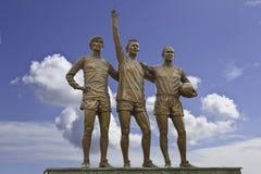 Manchester United unió la trinidad tres Imagen de archivo libre de regalías