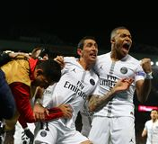 Manchester United v Paris Saint-Germain - UEFA Champions League Round of 16: First Leg. MANCHESTER, ENGLAND - FEBRUARY 12 2019: Presnel Kimpembe of PSG royalty free stock photos