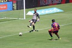 Manchester United versus Barcelona bij de Internationale Kampioenenkop Stock Foto's