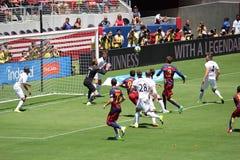 Manchester United versus Barcelona bij de Internationale Kampioenenkop Royalty-vrije Stock Afbeeldingen