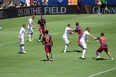 Manchester United versus Barcelona bij de Internationale Kampioenenkop Stock Afbeelding