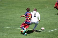 Manchester United versus Barcelona bij de Internationale Kampioenenkop Stock Afbeeldingen