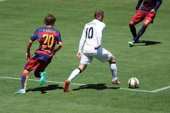 Manchester United versus Barcelona bij de Internationale Kampioenenkop Royalty-vrije Stock Foto's