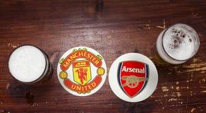 Manchester United vs arszenik zdjęcie royalty free