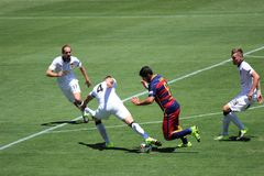 Manchester United vs. Barcelona at the International Champions Cup Royalty Free Stock Images