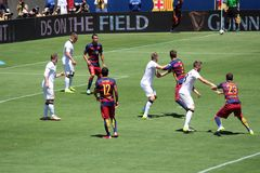 Manchester United vs. Barcelona at the International Champions Cup Stock Image