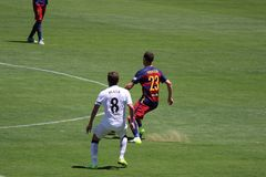 Manchester United vs. Barcelona at the International Champions Cup Royalty Free Stock Photography