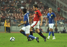Manchester United vs Malaysia XI Royalty Free Stock Photos