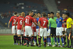 Manchester United vs Malaysia XI 2009 royalty free stock photography