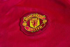 Manchester Unitedembleem Stock Foto's