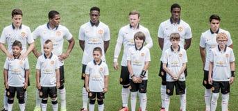 Manchester Unitedline Up Arkivfoto