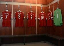 Manchester Unitedrepresentanten shoppar Fotografering för Bildbyråer