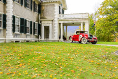 Manchester, Vermont - November 3, 2012: Hildene, Lincoln Family Home Stock Foto's