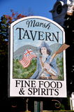 Manchester Village, VT: Equinox Hotel & Resort Tavern Sign Stock Image