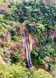 Manchewe Falls viewpoint - Long waterfall Stock Photography