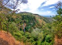 Manchewe Falls viewpoint - Waterfall in Malawi Stock Photo