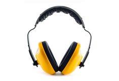 Manchons protecteurs d'oreille image stock