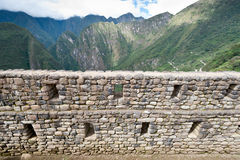 Manchu Picchu. This image shows the Manchu Picchu complex in Peru Stock Images