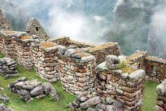 Manchu Picchu, Inca Walls Royalty Free Stock Images