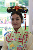 Manchu women. 18th china international fair for investment and trade held in xiamen city, 2014-9-8 Stock Images