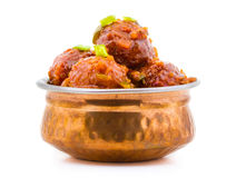 Manchurian. Indian healthy food Vegetable Manchurian Stock Photography