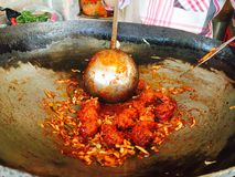 Manchurian. Indian healthy food Vegetable Manchurian Royalty Free Stock Images