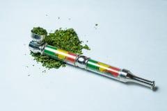 Manciata di marijuana medica della cannabis Fotografie Stock Libere da Diritti