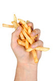 Manciata di patate fritte Immagini Stock