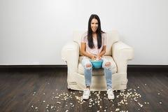 Manciata di popcorn immagine stock libera da diritti