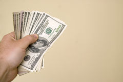 Manciata di soldi Fotografia Stock Libera da Diritti