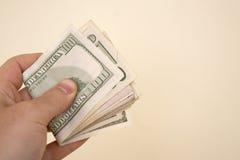 Manciata di soldi Immagini Stock Libere da Diritti