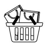 Mand die velen het overzicht van de zakgift winkelen vector illustratie
