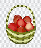 Mand met appelen stock illustratie