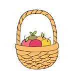Mand met appelen op een witte achtergrond vector illustratie