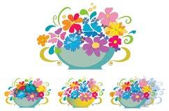 Mand met bloemen Stock Fotografie