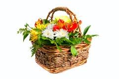 Mand met bloemen Stock Foto