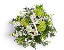Mand met bloemen stock afbeeldingen