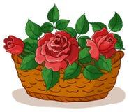 Mand met bloemenrozen Royalty-vrije Stock Foto